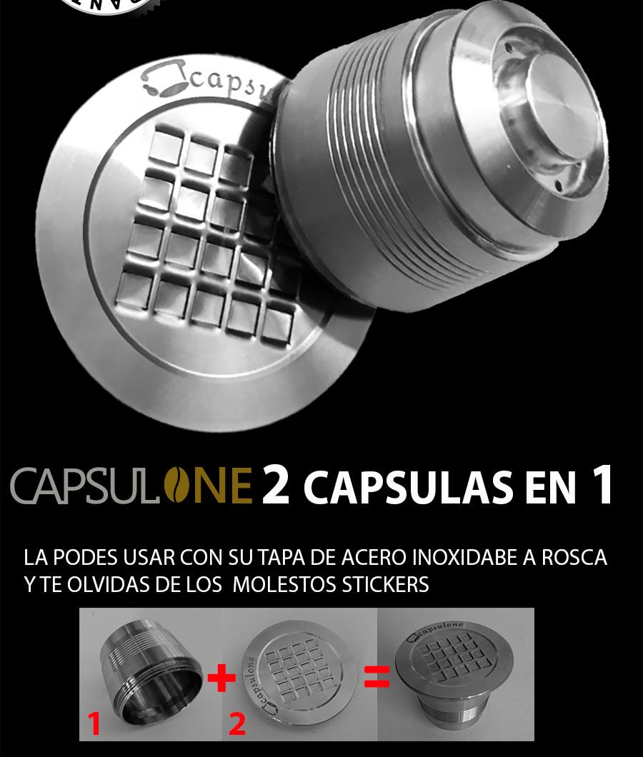 Capsula Recargable Nespresso acero 100% Inoxidable